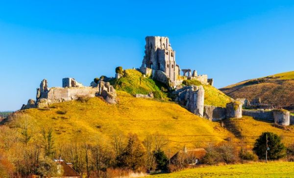 corfe castle chateau